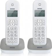 Brondi 10273812 Telefono Cordless DUO 20 Voci in Rubrica ID Chiamante  Gala Twin