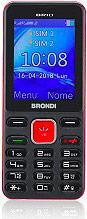 Brondi 10274082 Brio Telefono Cellulare DUAL SIM Fotocamera 1.3 Mpx GSM