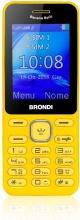Brondi 10275091 Telefono Dual SIM Cellulare GSM Bluetooth Giallo  Banana Split