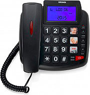 Brondi BRAVO90LCDNERO Telefono Fisso Vivavoce Con Filo tasti Grandi Bravo 90 LCD Nero