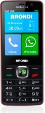 "Brondi ENERGY4G Smartphone Telefono Cellulare 3"" Fotocamera Wifi Nero Rosso Energy 4G"