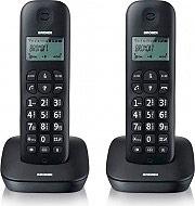 Brondi Gala Twin Telefono Cordless Duo DECT GAP 20 voci Rubrica Nero