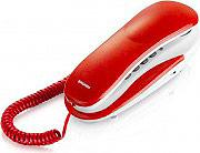 Brondi KENOBY Telefono Fisso con Filo Volume Suoneria Regolabile Bianco  Rosso