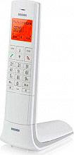 Brondi LEMURE Telefono Cordless DECT GAP 50 Voci in rubrica id Chiamante Bianco