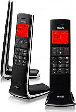 Brondi LEMUREBK Telefono Cordless DECT GAP 50 rubrica id Chiamante Lemure Nero
