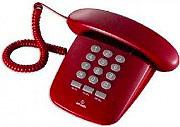 Brondi Telefono fisso a filo Sirio rosso