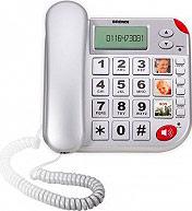 Brondi SUPERBRAVOPLUS Telefono Fisso Tasto Sos Soccorso + Telecomando - Super Bravo Plus