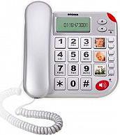 Brondi Telefono Fisso Tasto Sos Soccorso + Telecomando - Super Bravo Plus