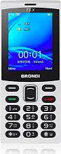 "Brondi TEX_WHITE Tex Telefono Cellulare Display 2.4"" Bluetooth GSM colore Bianco"