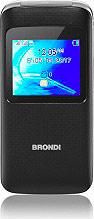 "Brondi WINDOWBK Window Telefono Cellulare Dual SIM 1.77"" Radio FM GSM Tasto SOS Nero"
