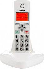 Brondi YORKBIANCO Telefono Cordless Dect Gap vivavoce e col. Bianco YORK White