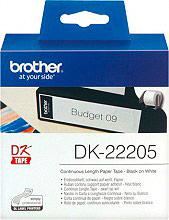 Brother DK22205 Rotolo Etichette Adesive Continuo 62 x 30 mm Etichetta termica