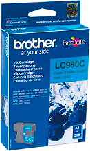 Brother LC980C Cartuccia Originale Inkjet Ciano per Stampanti Brother MFC-250C