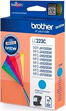 Brother LC-223CBP Cartuccia Inkjet Originale per MFC-J4420DWMFC-J4625DW Ciano