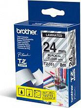 Brother TZE-151 Etichette adesive per Stampanti 2.4 cm x 8 m Etichettatrici PT