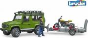 Bruder 2589 Land Rover Defender Con Ducati Scrambler 0