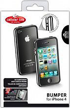 Cellular Line Custodia Cover Bumper iPhone 4  4S BUMPERIPHONE4BK Nera