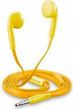 Cellular Line Cuffie auricolari Stereo con Microfono Giallo - BUTTERFLYSMARTY