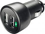 Cellular Line MICROCBRUSBDUAL3A Caricabatteria auto universale Ingresso USB Nero