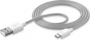 Cellular Line USBDATAMUSBSMARW Cavo Dati USBMicroUSB per Smartphone Tablet