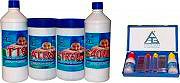 CHEMICAL KIT '4 ALL' Kit Pulizia Piscina 4+1 Cloro Disinfettante Antialghe Riduttore PH 4 ALL