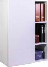 COMPOSAD LB5160K304 Libreria 1 Anta  2 Ripiani 80x35x111h cm Bianco laccato