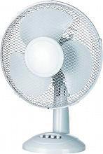 CONCORD Ventilatore da Tavolo a Pale ø 23 cm Oscillante DF-12RT-SGM