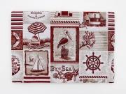 CREAZIONI LORY HB0189 Tovaglia 4 Posti Copritavola con motivo marino Rosso Marina