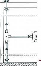 CR Serrature 93 Aste per serrature da Applicare telescopiche lunghezza max 128 cm
