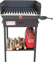 CRUCCOLINI BA21 Barbecue Carbone Carbonella da giardino con Ruote Family
