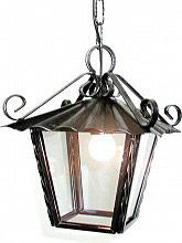 CRUCCOLINI Lampada Esterno Giardino Applique Soffitto in Ferro battuto cm 21x21x40 h LC7