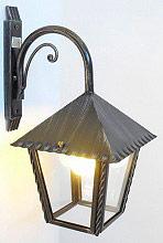 CRUCCOLINI Lampada Esterno Giardino Applique Parete in Ferro battuto cm 20x20 LM23 Heidi
