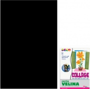 CWR 5321 Cartavelina Unicolore 24 fogli Nero
