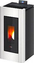 Cadel PRINCE 3 Stufa a pellet in Ghisa 10.5 kW Volume 252 m³ colore Bianco Prince³