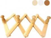 Calder 5202 Appendiabiti Legno Fissaggio a Parete Estensibile Posti 4 Bianco
