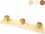 Calder 5212 Appendiabiti in Legno Fissaggio a Parete Posti 2 Bianco