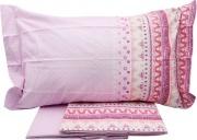 Caleffi HA1194 Completo Letto Singolo in Cotone Fantasia stampata Rosa - Decor