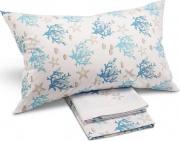 Caleffi HA1381 Completo Letto Singolo in Cotone stampa fantasia marina Blue - Coralli