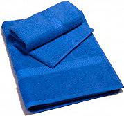 Caleffi MINORCA Set Asciugamani Bagno Spugna Cotone 2pz. 40x6055x105 cm Blu