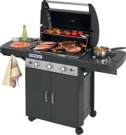 Campingaz 2000033886 Barbecue Gas BBQ Gas da Giardino 9.6+2.3 kW 3 Series Classic LS Plus D DualGas