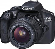 Canon Fotocamera Reflex 18Mpx CMOS Full HD Wi-Fi NFC EOS1300D + EFS18-55IS II