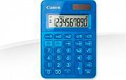 Canon Calcolatrice da tavolo 10 cifre a batterie e Solare Blu LS-100K-MBL