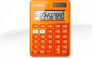 Canon LS-100K-MOR Calcolatrice da tavolo 10 cifre a batterie e Solare Arancione