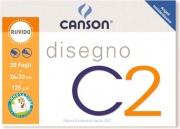 Canson C100500446 Album C2 4 Angoli Ruvido 24x33Cm 125G