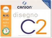 Canson C100500447 Album C2 4 Angoli Liscio 24x33Cm 120G