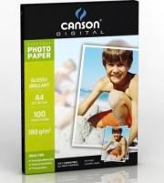 Canson C200004318 Carta Fotografica A4 Lucida Confezione 100 fogli Bianco