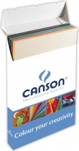 Canson C200041149 Confezione 25 Fogli Colorline 50X70 cm 220G Rosso Granata