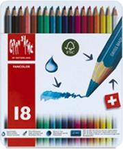 Caran dache 1288318 Confezione 18 Fancolor Matite Scatola Metallo