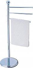 Carbonari DFW334 Porta Asciugamani da terra in Metallo cromato Altezza 91 cm