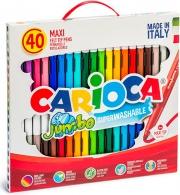 Carioca 41257 Confezione 40 Pennarello Jumbo Assortiti